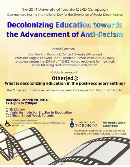 Decolonizing Education towards the Advancement of Anti-Racism