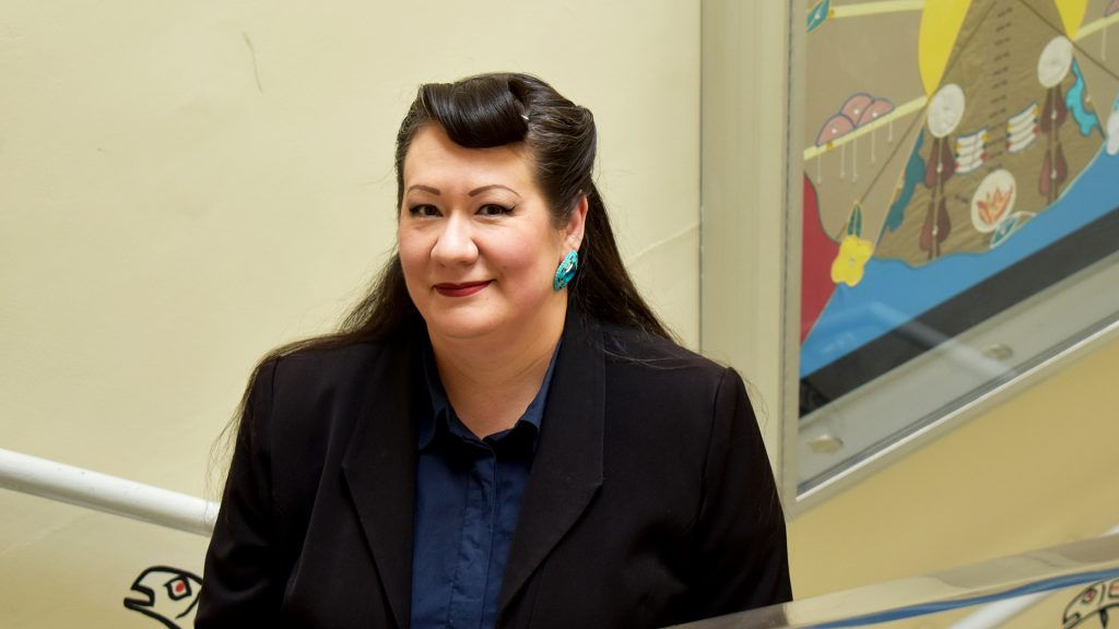 Portrait photo of Jenny Blackbird Coordinator, Ciimaan/Kahuwe'ya/Qajaq Indigenous Language Initiative